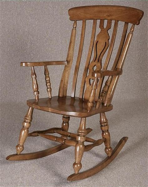 Antique Windsor Armchair Oak Rocking Chair Fireside Farmhouse Rocking Chair