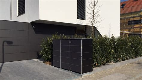Garten Q Gmbh by M 252 Lltonnenbox Metall Anthrazit Zw05 Hitoiro