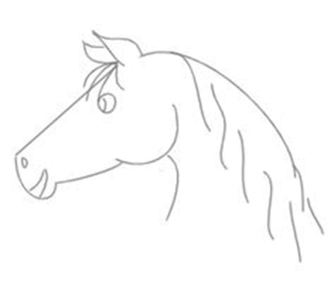 simple horse drawings  kids images pictures becuo