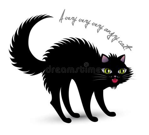 clipart gatto gatto arrabbiato illustrazione vettoriale illustrazione