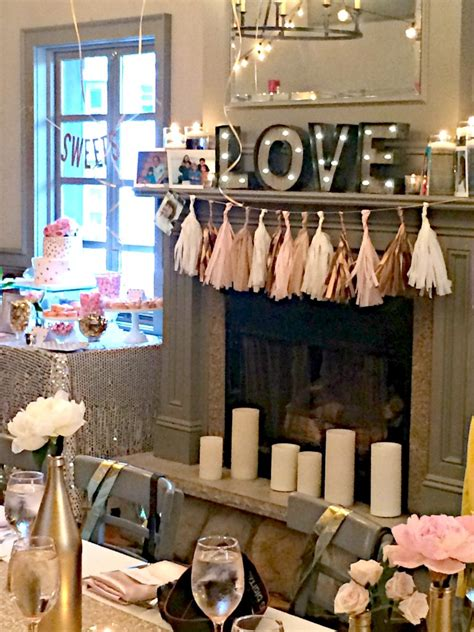 elegant pink  gold bridal shower trueblu bridesmaid