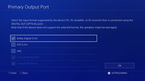 audio format on ps4 a50 manual ps4
