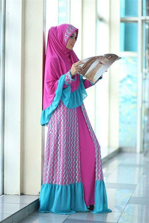 Gamis Syari Fitri By Farghani by Khuzama Magenta Baju Muslim Gamis Modern