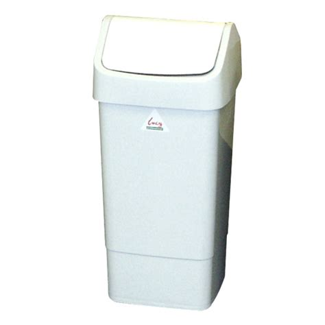 swing top bin berties swing top bin white 50l berties direct