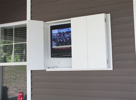 diy outdoor tv cabinet diy outdoor tv enclosure interesting ideas for home