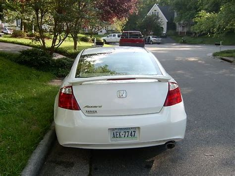 Spoiler With L White purchase used 2009 honda accord ex l coupe 2 door 2 4l white with interior spoiler in