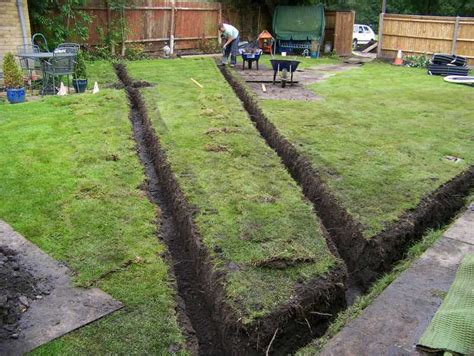 garden drainage lawn drainage land drainage field
