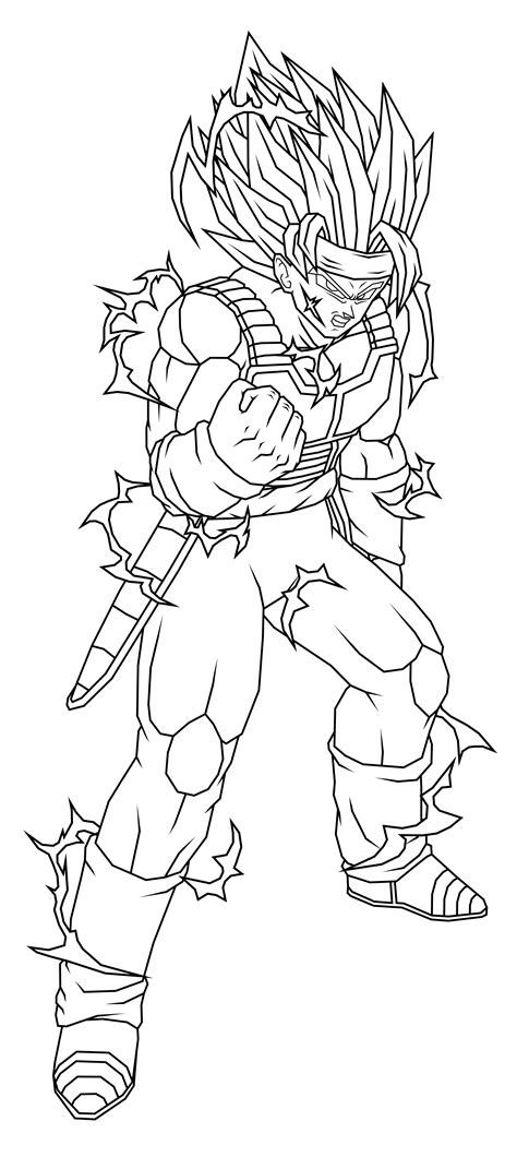 dragon ball z coloring pages bardock bardock ssj2 lineart by theothersmen on deviantart