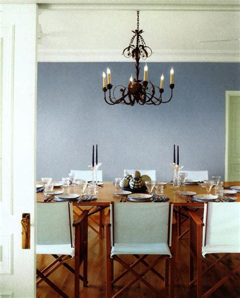 modern living room and dining room decorating color schemes with blue wall paint colors