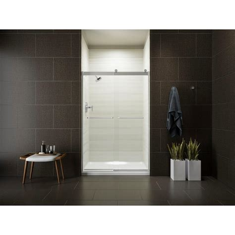 Kohler Levity 47 5 8 In X 74 In Semi Frameless Sliding Kohler Frameless Sliding Shower Door