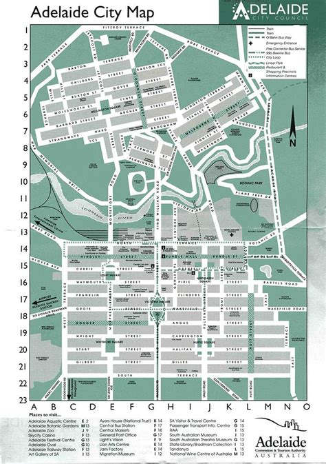 map of the city of large adelaide maps for free and print high