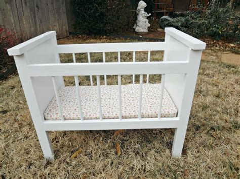 Baby Doll Crib Plans White Fancy Baby Doll Crib And High Chair Diy Projects
