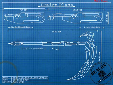 How To Make A Blueprint Online rwby crescent rose blueprints by crypticspider on deviantart