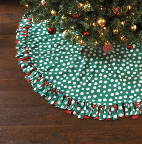 no sew christmas kit dotted tree skirt 60 jo ann