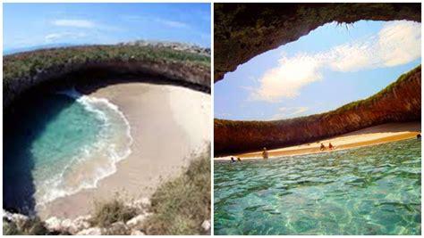 la parte escondida del la espectacular playa escondida en las islas marietas