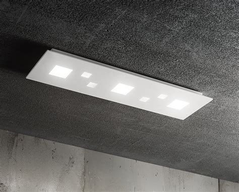 plafoniera led soffitto lada rettangolare da soffitto perenz 6392blc