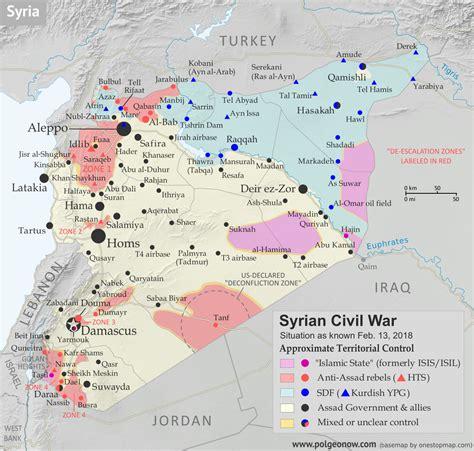 syrian war map syrian civil war map timeline february 2018