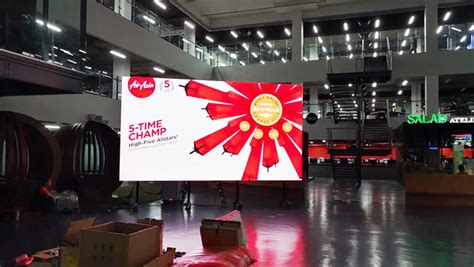 airasia zone 1 airasia uses b tech support for the big screen led of the