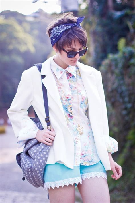 images of short choppy hair with bandanna 17 best ideas about short hair scarves on pinterest