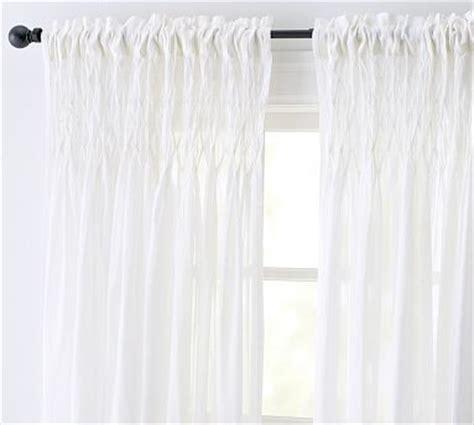white cotton curtains 63 smocked cotton voile pole pocket drape 42 x 63 quot white