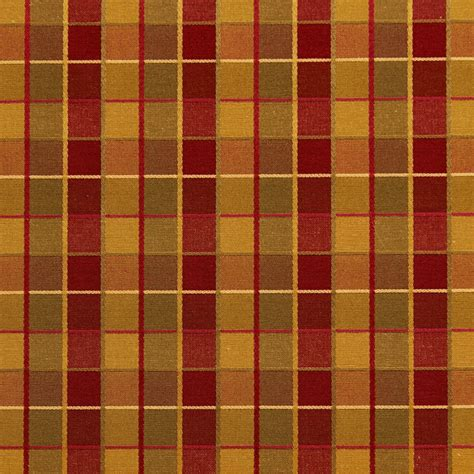 red check upholstery fabric red gold and green checkered luxurious faux silk