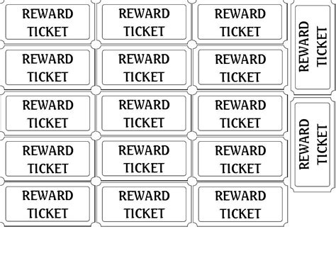 printable reward ticket template free coloring pages of reward charts