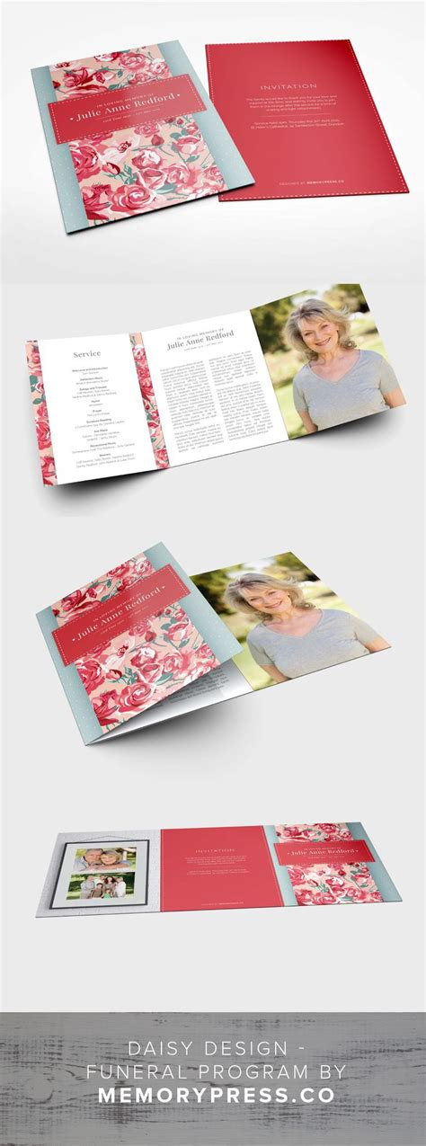 free funeral service program template download best templates