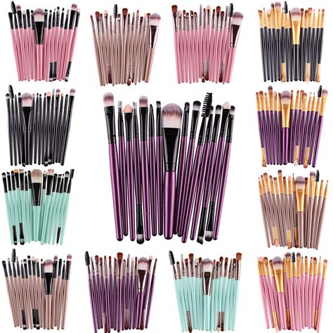 toiletry kit brush make up 15 set purple