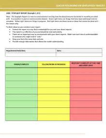 stop light template stoplight report template supporting self management in