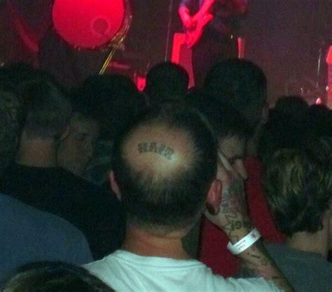 tattoo fail hair bald spot hair tattoo daily picks and flicks