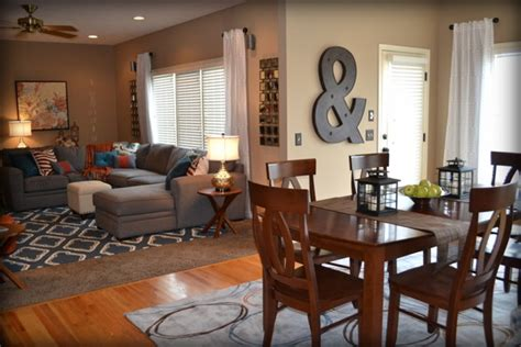 Decorating Ideas Casual Living Rooms Casual Orange Blue And Gray Family Room Traditional