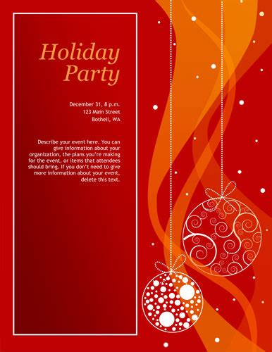 free christmas party invitation templates word cimvitation