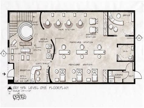 Create Salon Floor Plan | salon floor plans day spa level design stroovi