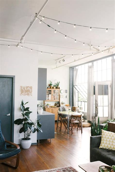 25 best ideas about apartment string lights on pinterest loft ceiling lighting ideas theteenline org