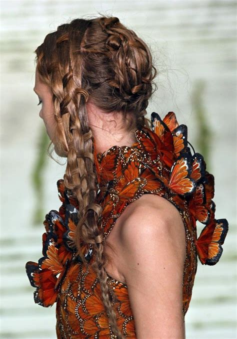 Mcqueen Butterfly Gown by Monarch Butterfly Dress Side View Mcqueen A