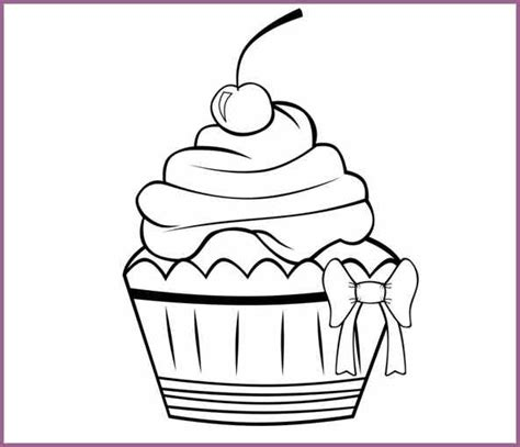 free cupcake template cupcake drawing template sketch coloring page