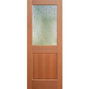 wood and half frosted glass door for bathroom yay or nay