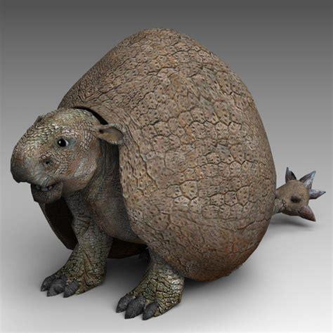doedicurus prehistoric  obj