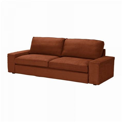 Ikea Kivik Sofa Bed Slipcover Cover Tullinge Rust Brown Ikea Kivik Sofa Bed