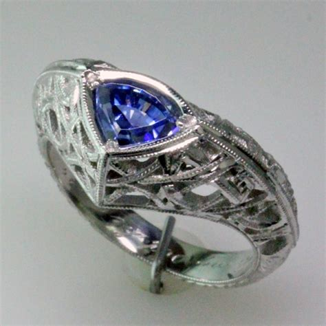 benitoite engagement ring mardon jewelers custom jewelry design designer jewelry