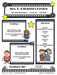 theme exles from movies classroom newsletters fill in the blank pdf even has a