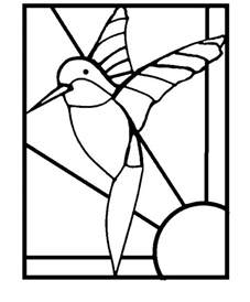 mosaic templates printable mosaic templates printable free hummingbird hummingbirds