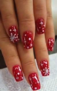 Red christmas nail art fashion belief