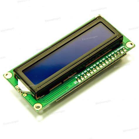 Lcd Display 1602 16x2 blue lcd module electrodragon