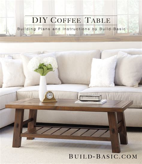 easy to build coffee table build a diy coffee table build basic