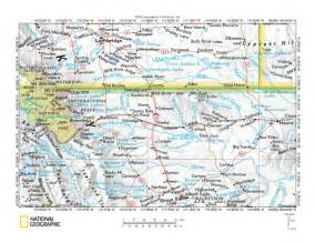 map of alberta canada and montana milk river drainage basin landform origins montana and