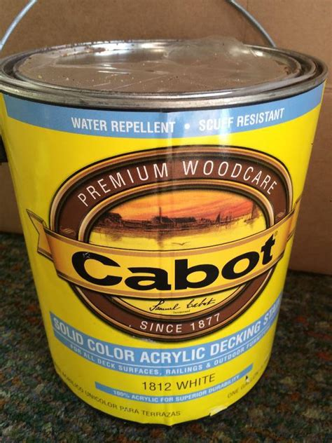 cabot deck stain stain paint  sealer  bid