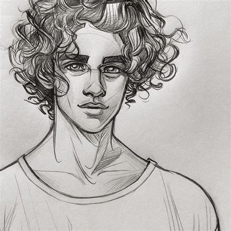 drawing curly hair drawing of a boy with curly hair this is not my drawing