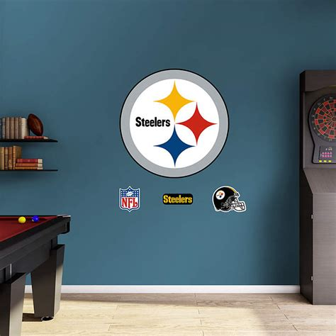 Steelers Decor by Pittsburgh Steelers Logo Wall Decal Shop Fathead 174 For
