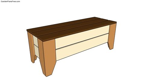free garden bench plans garden storage bench plans free garden plans how to